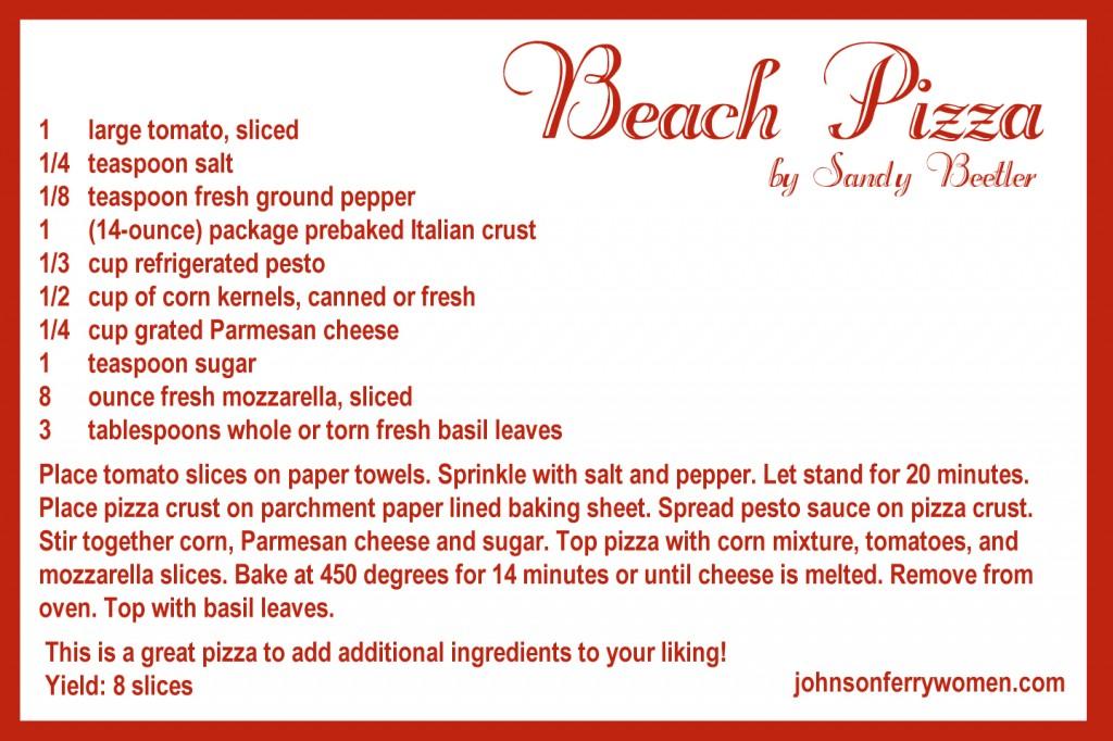 Beach Pizza Recipe