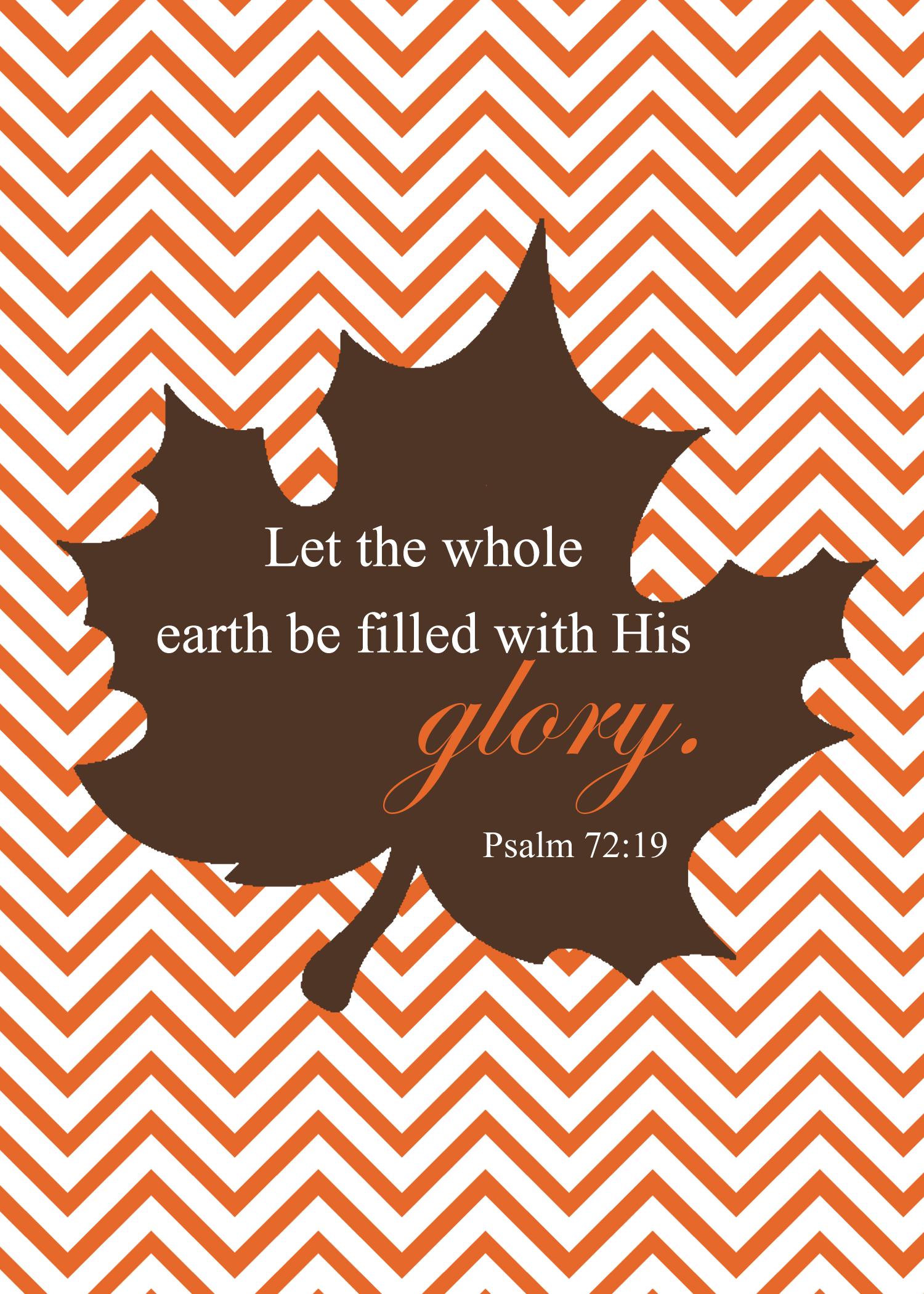 FREE Fall Scripture Printable